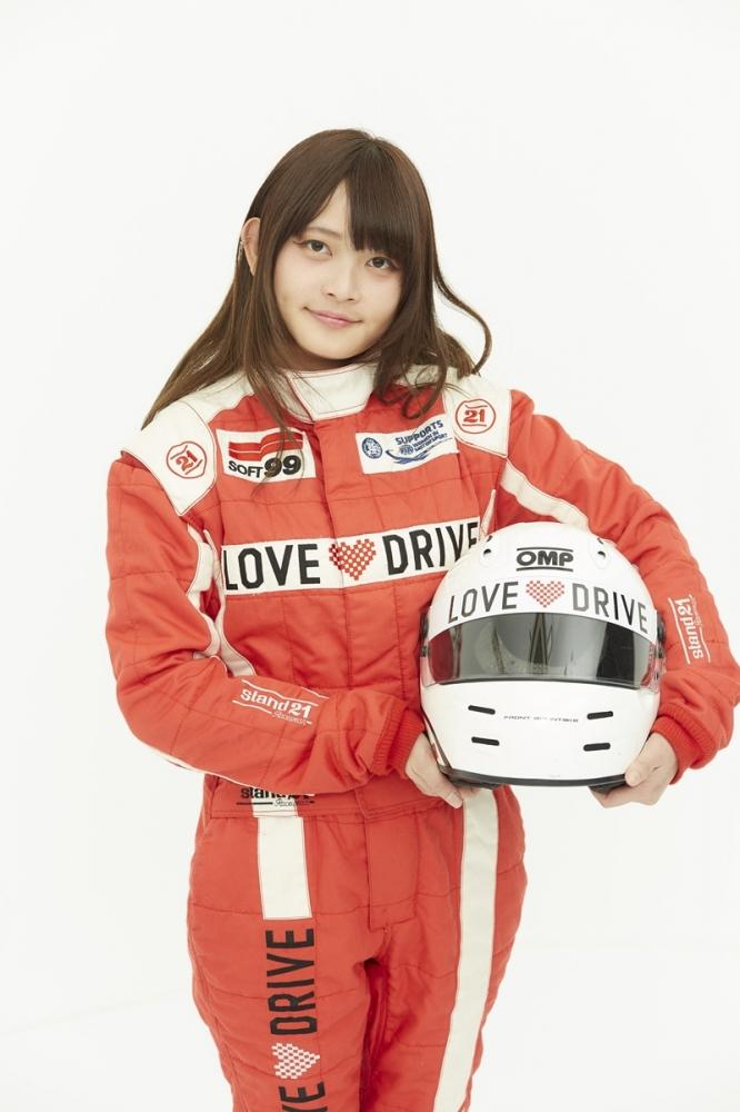 洪銘蔚在所屬的Love Drive車隊網站中的個人照片,相當清純可愛。
