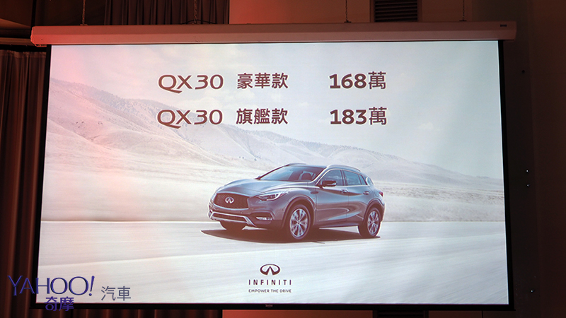 日裔優雅、跨界性格 Infiniti QX30 168萬起正式上陣!
