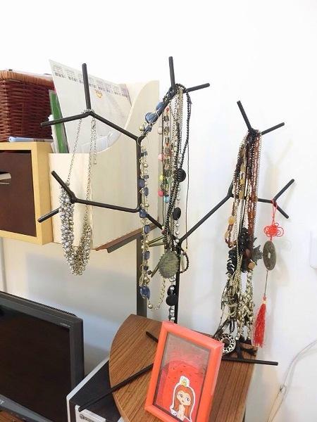 特別樹枝造型的飾品架,也是盧佳俐很喜歡的單品。