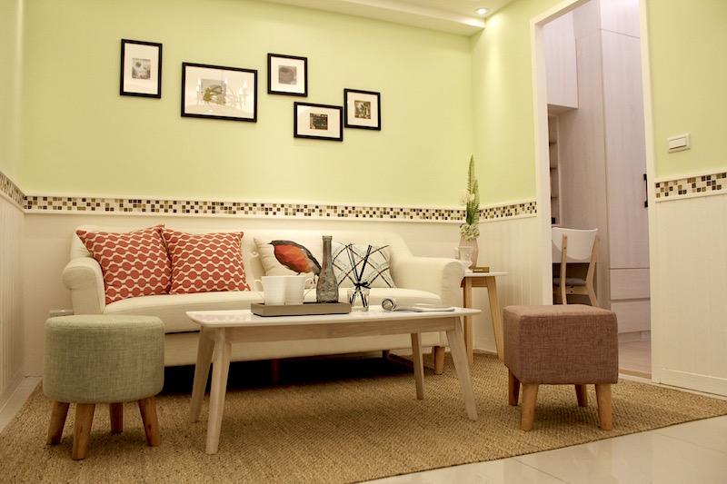 裝潢含在內,風格多選擇,此為鄉村風格裝潢。