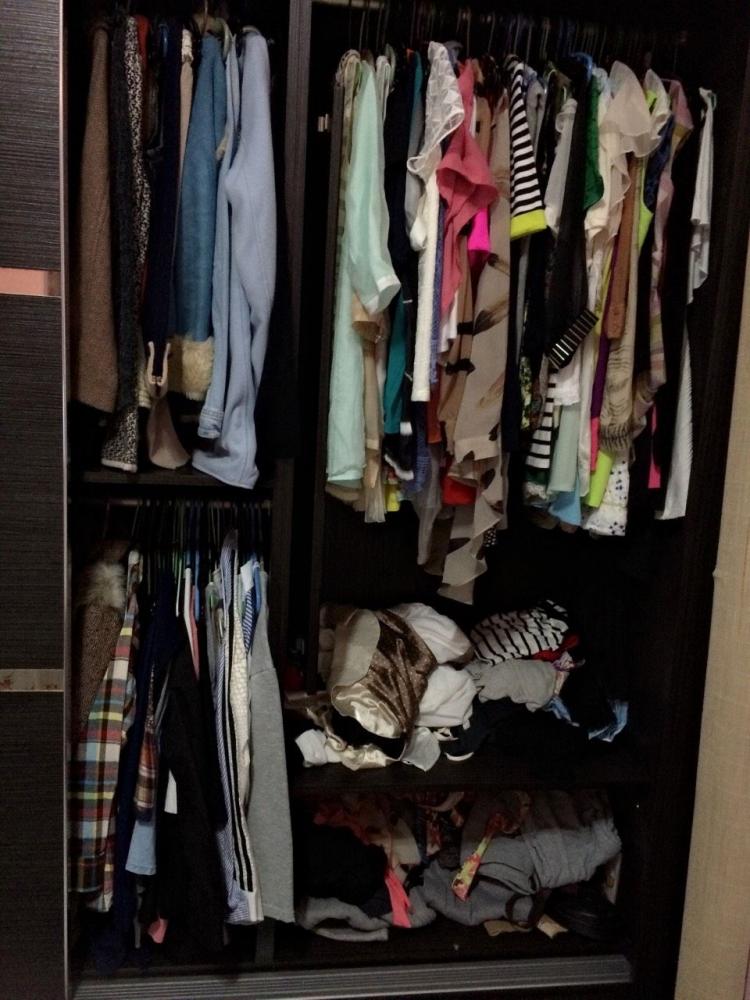 胡廣雯的衣櫃始終不夠用,未來希望新家能規劃一整間的衣帽間。
