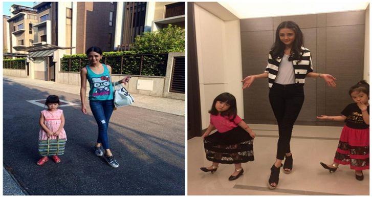 時尚圈公認的上質名媛夏黃廉盈,擁有2個超可愛女兒。