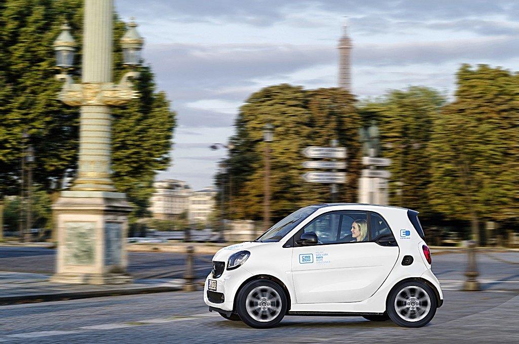 解決塞車與空汙,戴姆勒Car2go 推出EQ fortwo電動車隊明年巴黎市