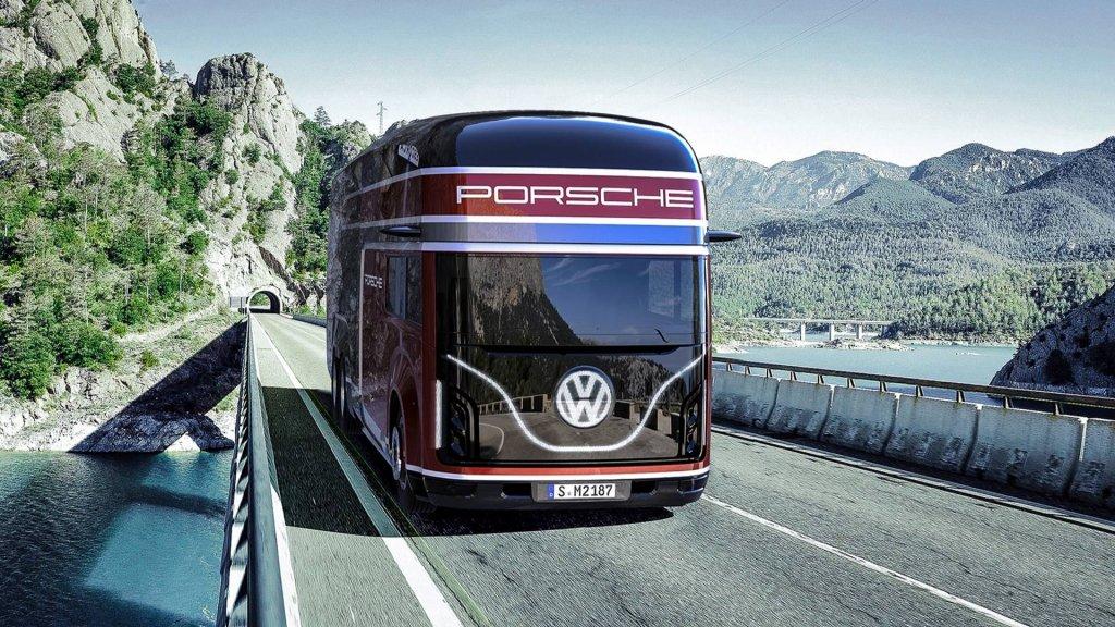 一次運兩台PORSCHE?VW Renntransporter 概念車