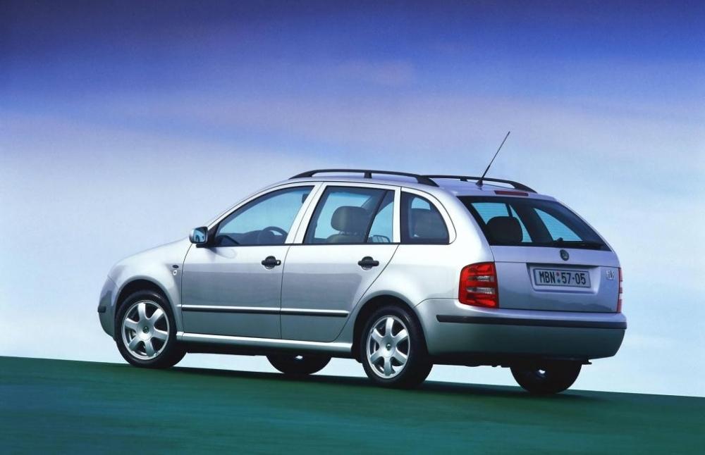 ▲2000-2007年第一代Škoda Fabia Combi。