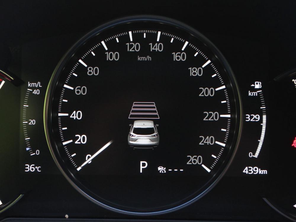 儀表板採用整合中央七吋數位顯示的三環式造型。