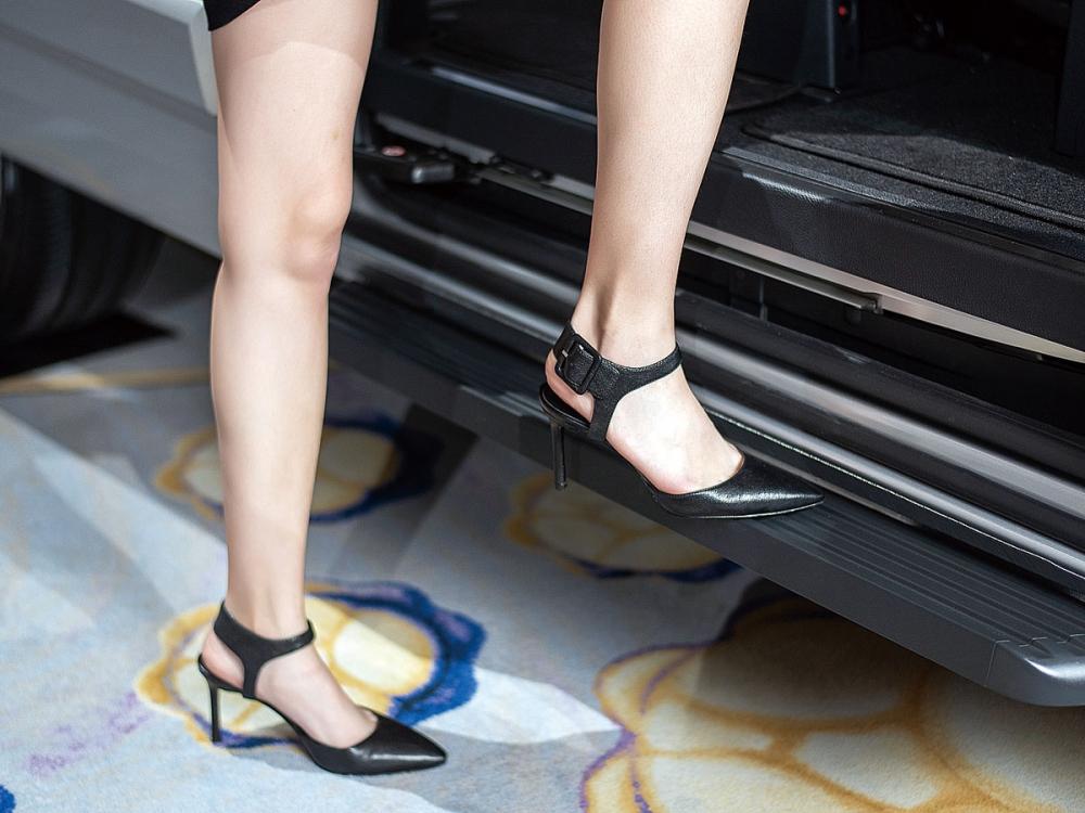 延伸的門檻,降低高度讓進出車室更加方便。