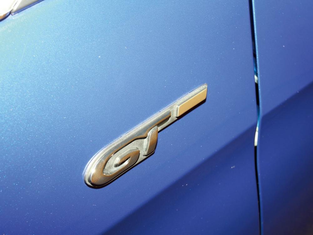 葉子鈑嵌有法系獅王身分辨識的GT鍍鉻名牌。