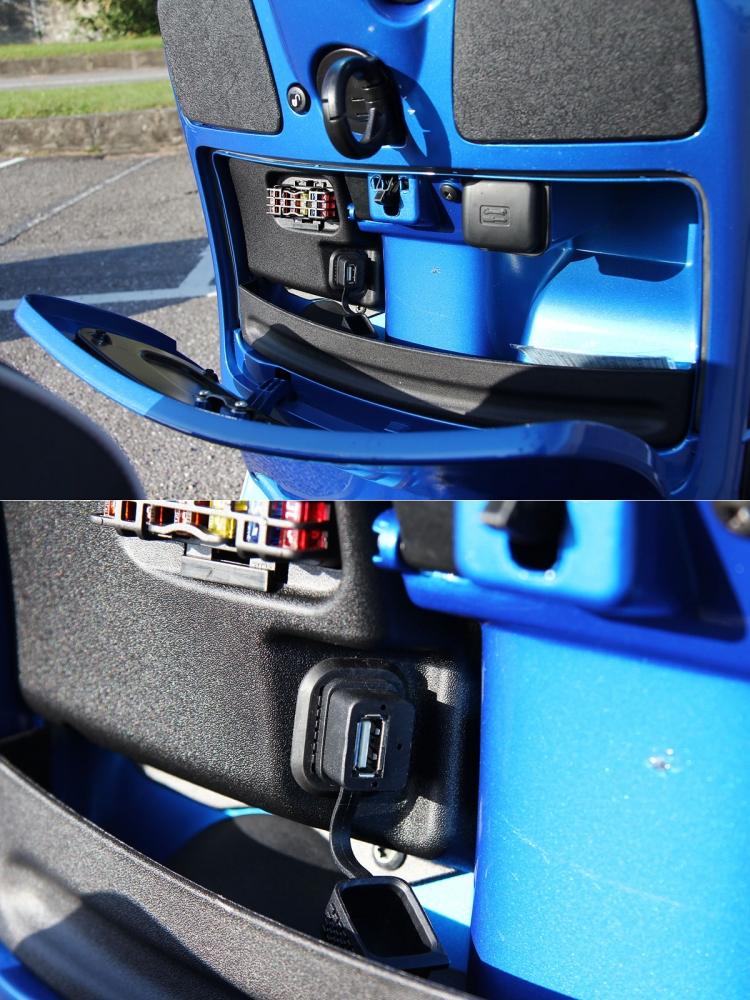 龍頭下方的置物空間依舊,並增加USB插座功能。