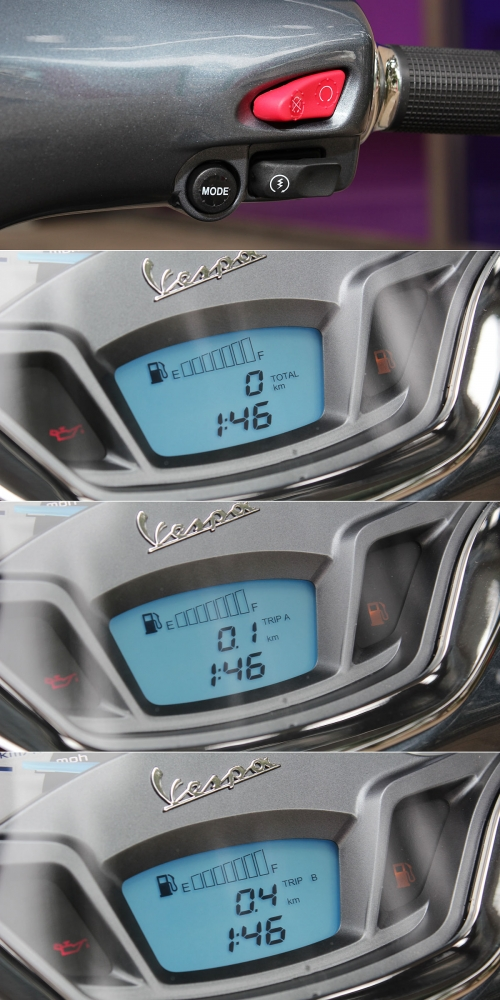 透過右側把手上的Mode鍵,提供液晶螢幕切換功能。