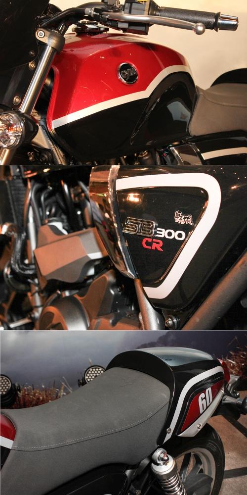 野狼SB300CR提供兩種車色,皆為雙彩設計。