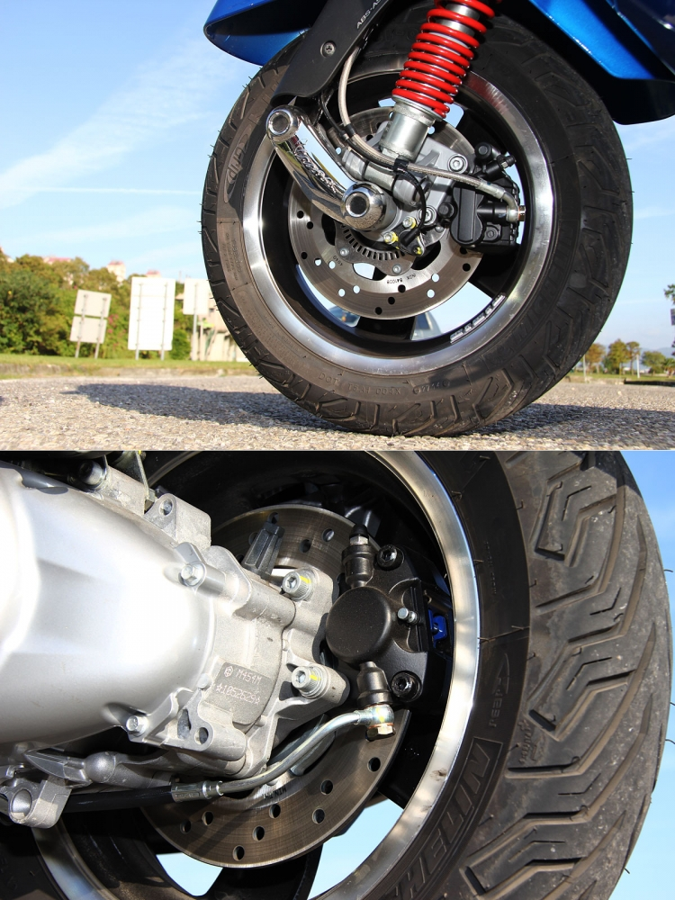 改款車型導入ABS與ASR兩主動安全系統之後,也增加ESS懸吊系統。