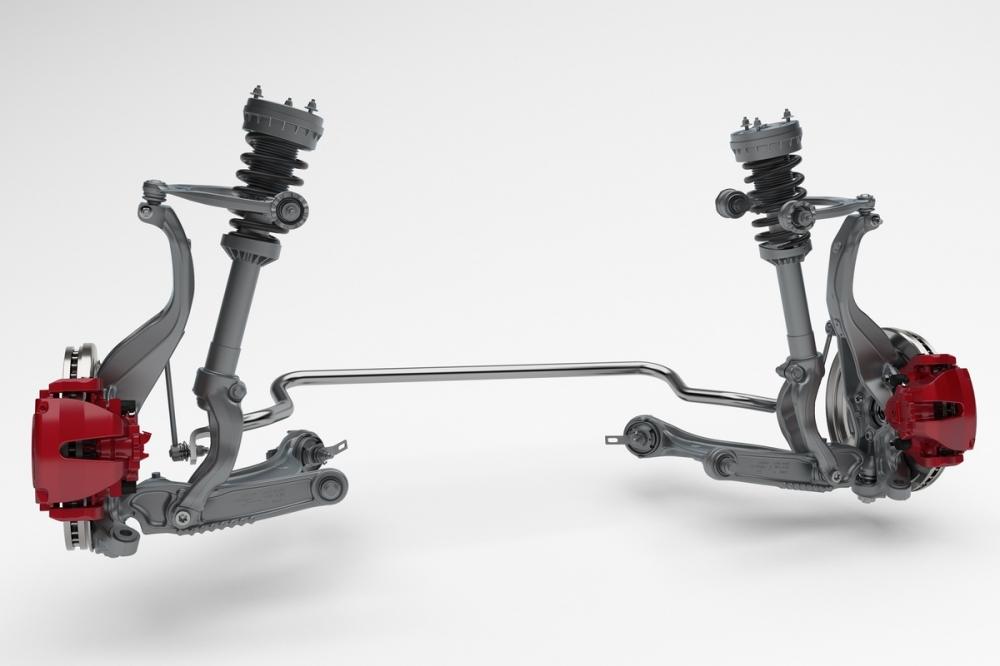F-Pace為強調其操控表現,前後懸分別採用鋁合金雙A臂、鋁合金多連桿