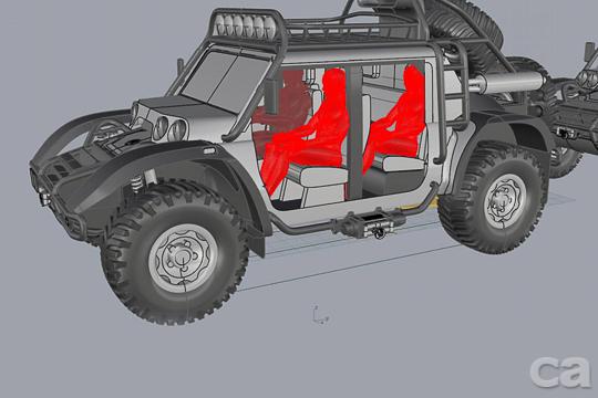 要創下各種越野世界紀錄的車該長怎樣?大輪胎、寬車體、強力懸吊、無敵四輪傳動系統與一堆探照燈、超粗獷外型應該都是標配項目吧?