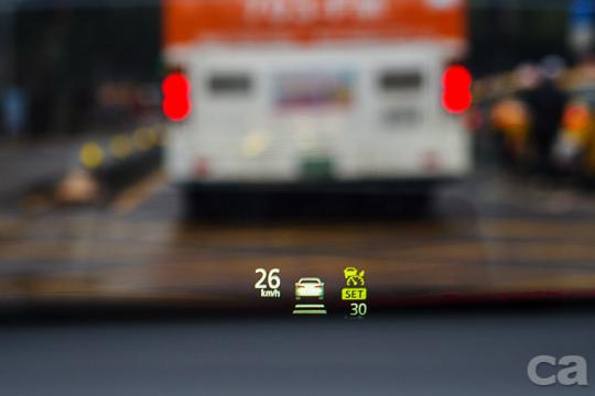 可顯示多種訊息的HUD抬頭顯示屏幕,讓駕駛不用低頭就能了解所有車輛現況。