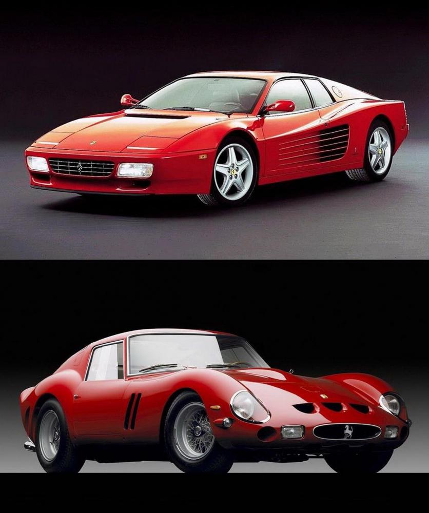 ▲上為Testarossa;下為250 GTO