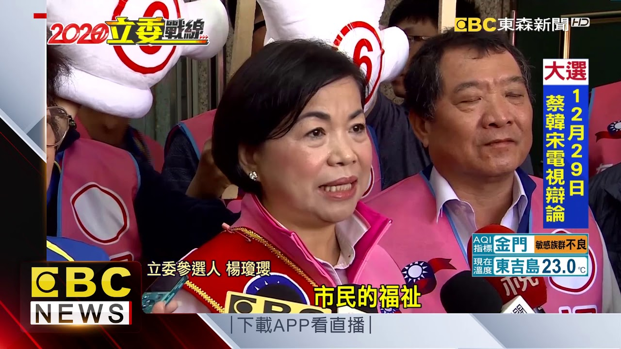 楊瓊瓔請辭副市長 力拚立委選戰對決洪慈庸