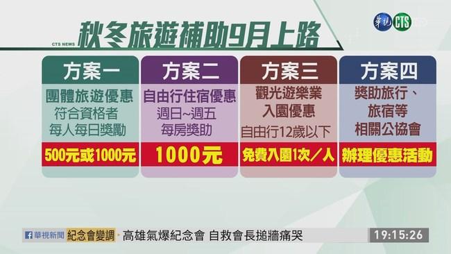 反擊中國打壓 交通部9月推旅遊補助