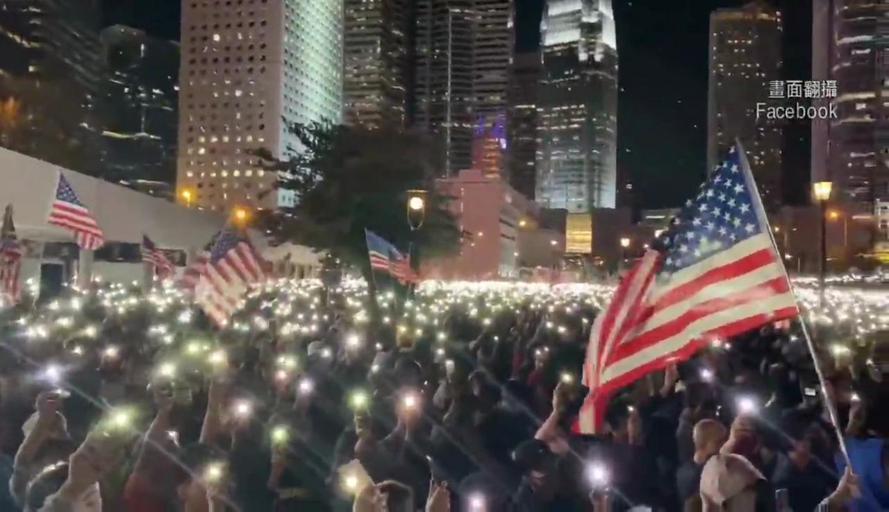 美國「港人權法」過關 十萬港民感恩節上街淚謝
