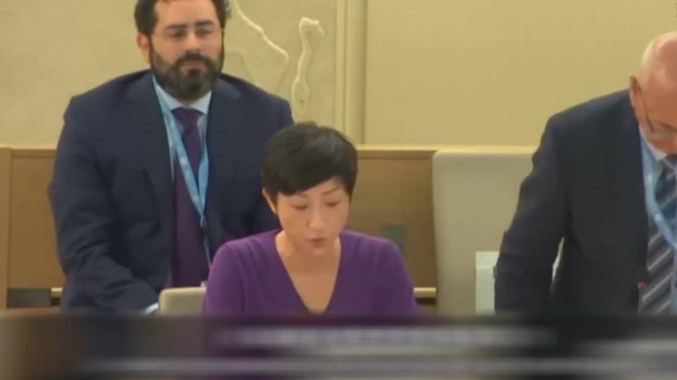 港議員受邀聯合國演講 怒斥港警暴行