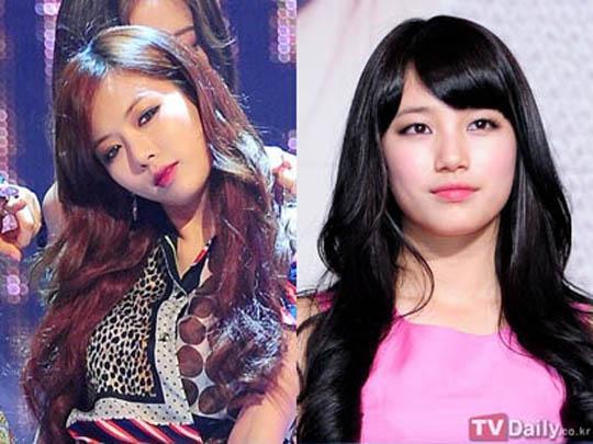 4minute成員泫雅、Miss A成員秀智