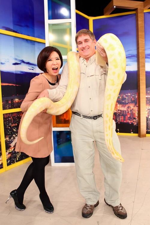 黄金大蟒蛇合照