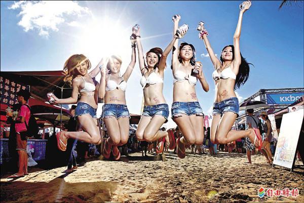 貢寮海祭颱風延期 五月天找嘸比基尼妹
