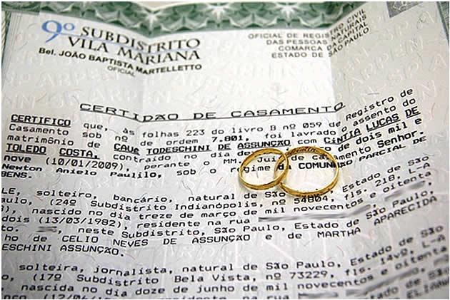 Casamento civil também é motivo de comemoração