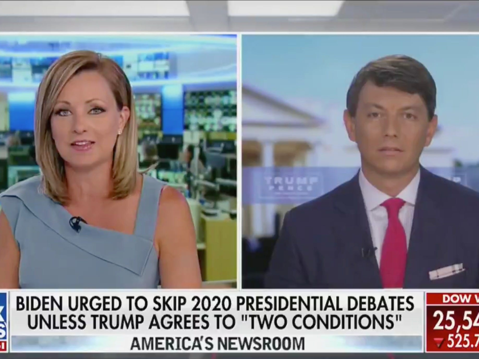 Fox News host refuses to listen to the Trump campaign's latest attack on Biden