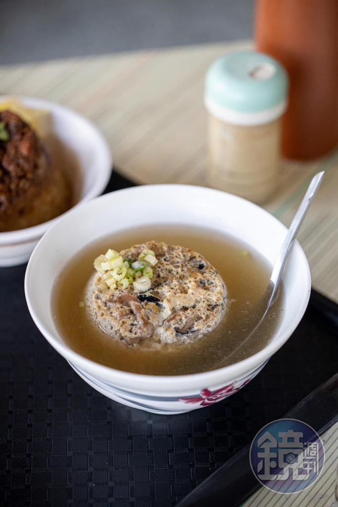 吸浸高湯的「蒸蛋湯」香滑入味。(40元/份)