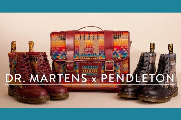 modebegegnung dr martens trifft auf pendleton. Black Bedroom Furniture Sets. Home Design Ideas