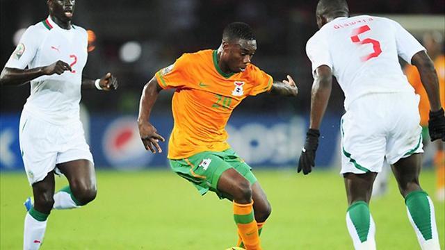 Sambia ohne M�he ins Halbfinale