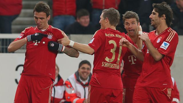Bundesliga - Bayern fertigen VfB l�ssig ab