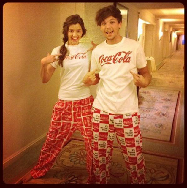 One Direction's Louis Tomlinson and girlfriend pose in PJs ...