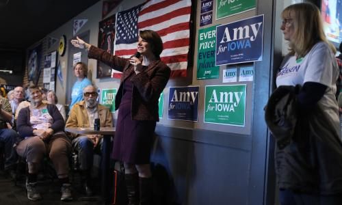 Klobuchar gains momentum in Iowa – but can a centrist hope to win there?