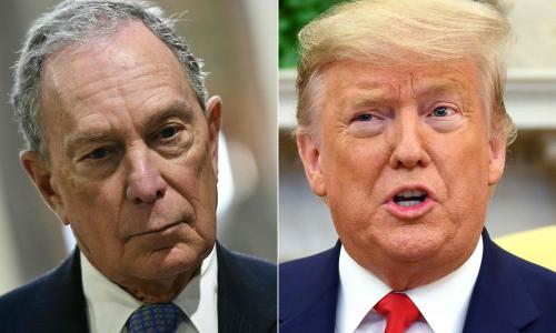 Barking clown: Bloomberg fires back on Twitter after Trump taunts