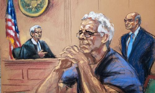 Jeffrey Epstein appears in court for first time since reported jail injuries