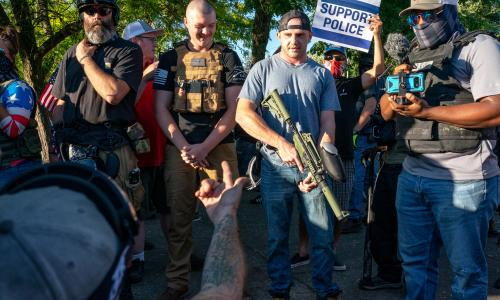 Portland suffers serious street violence as far right return prepared to fight