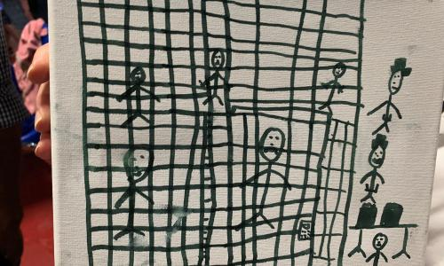 Migrant childrens drawings depict horrific conditions in cages