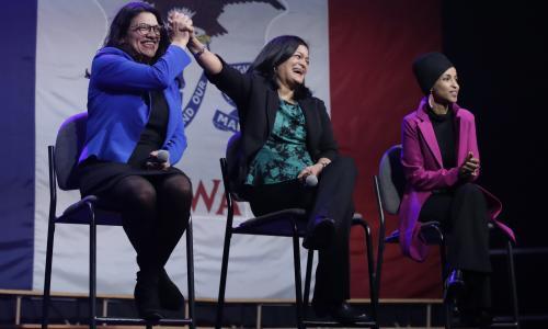 Rashida Tlaib boos Hillary at Iowa event as Sanders-Clinton row goes on