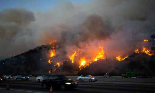 California wildfires: fierce winds may spread blazes as millions lose power