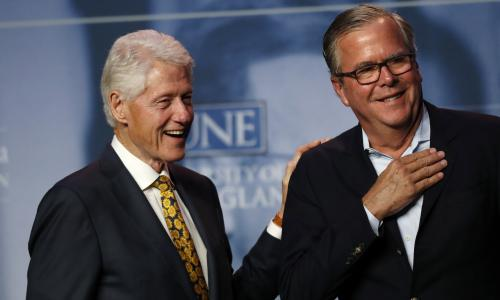Bill Clinton and Jeb Bush seek refuge from Trump impeachment storm