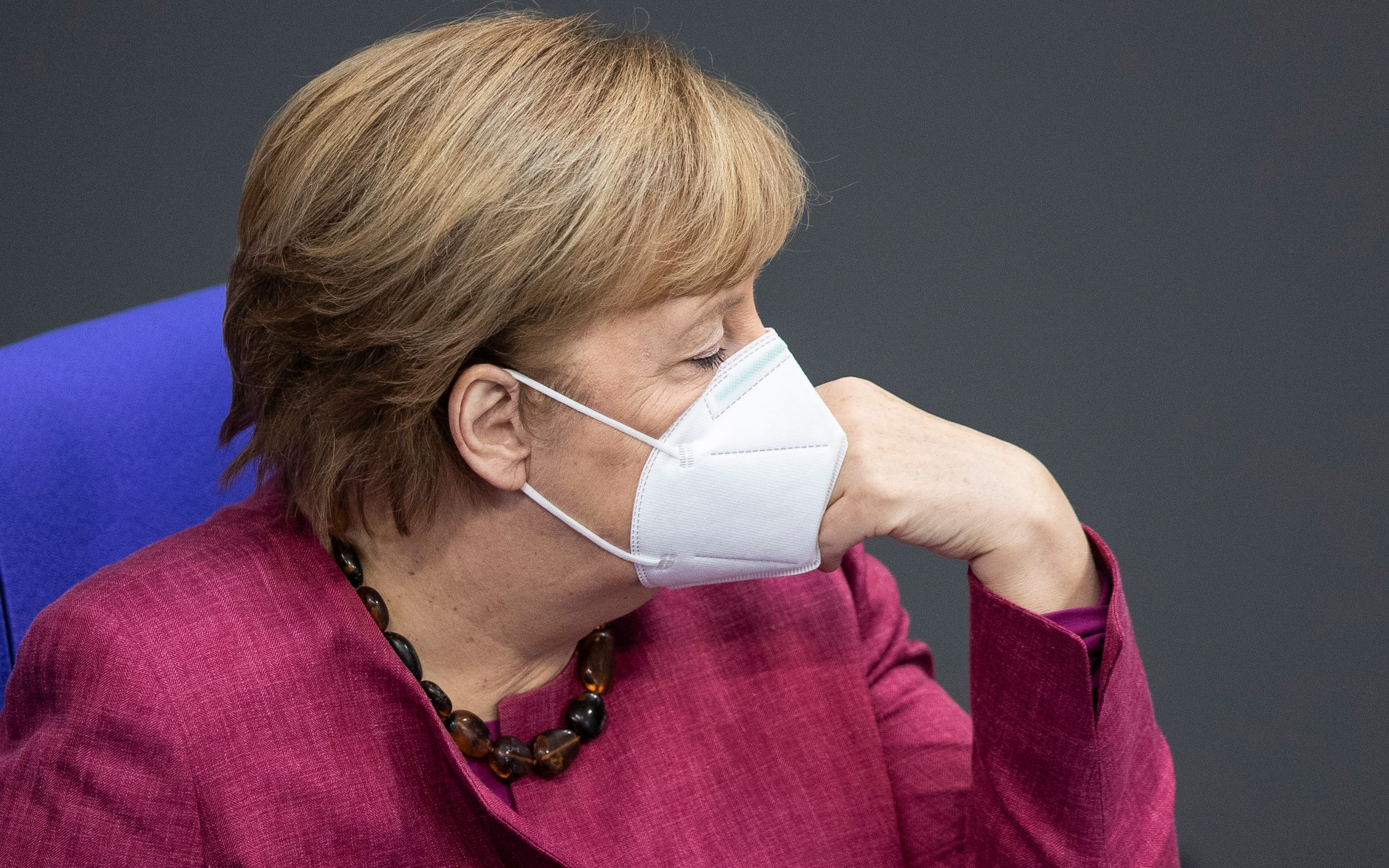 Angela Merkel heckled in German parliament after warning against Covid lies and disinformation