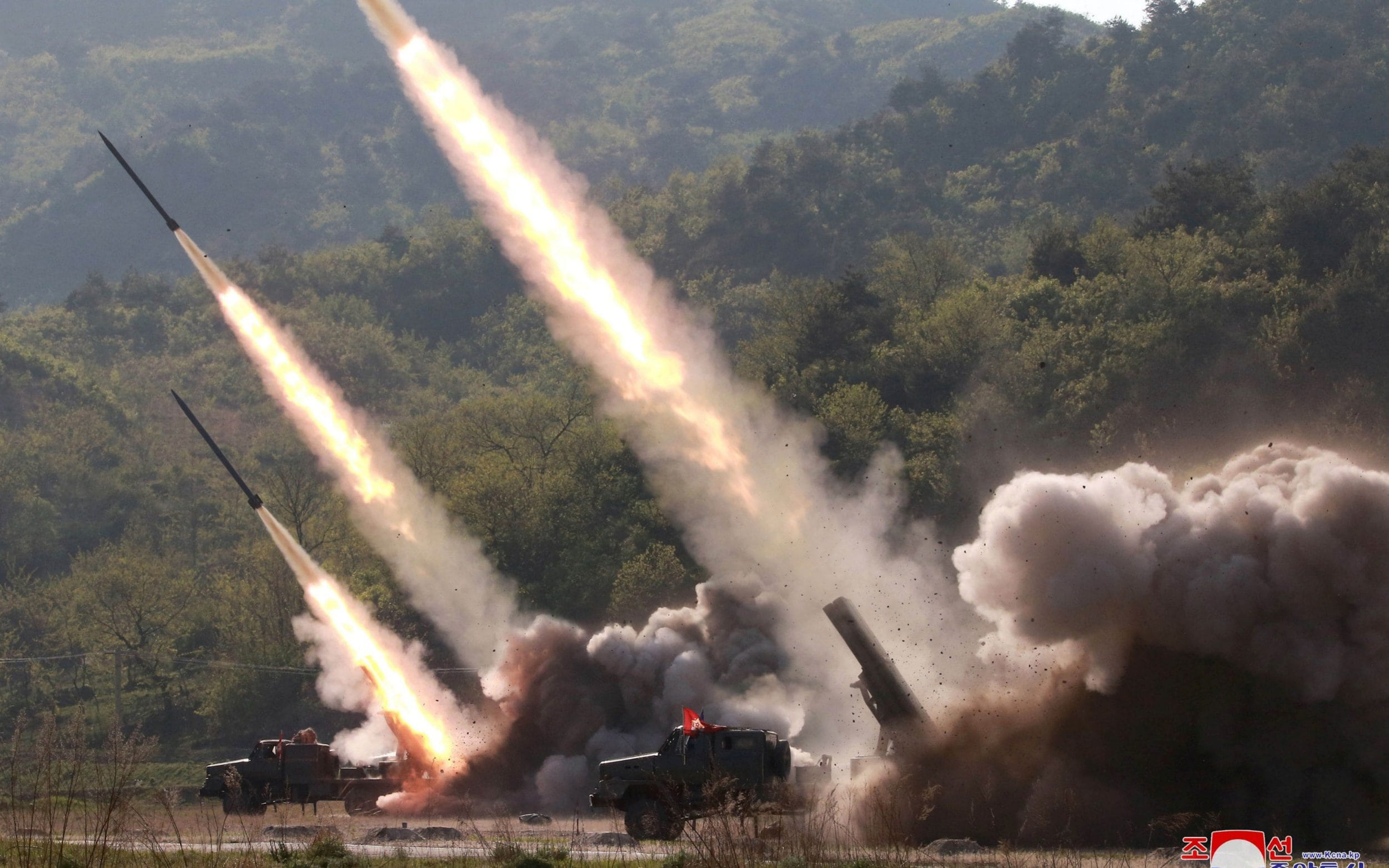 North Korea fires two short-range ballistic missiles in bid to stop drills
