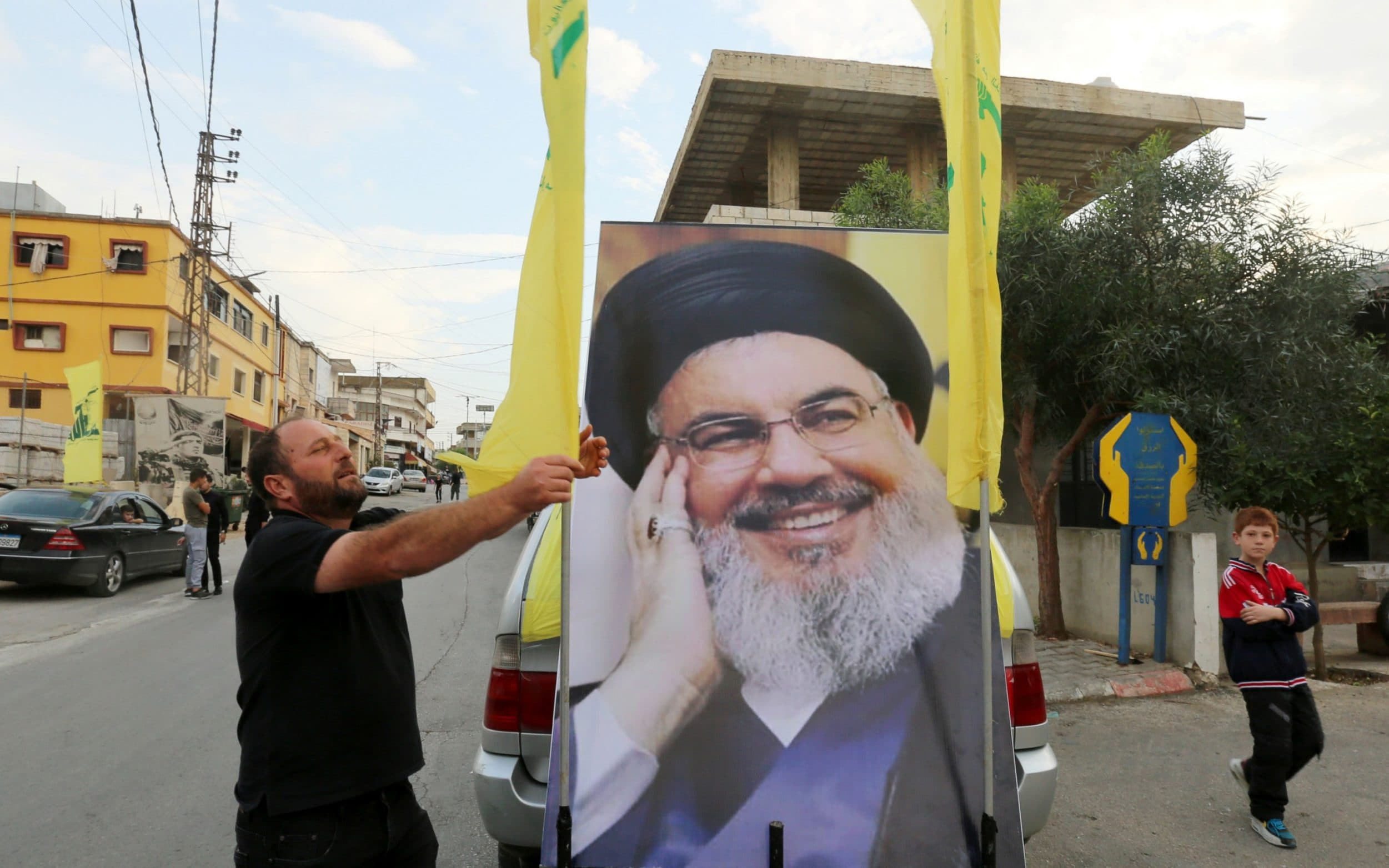 Hizbollah leader warns of civil war after days of Lebanon protests
