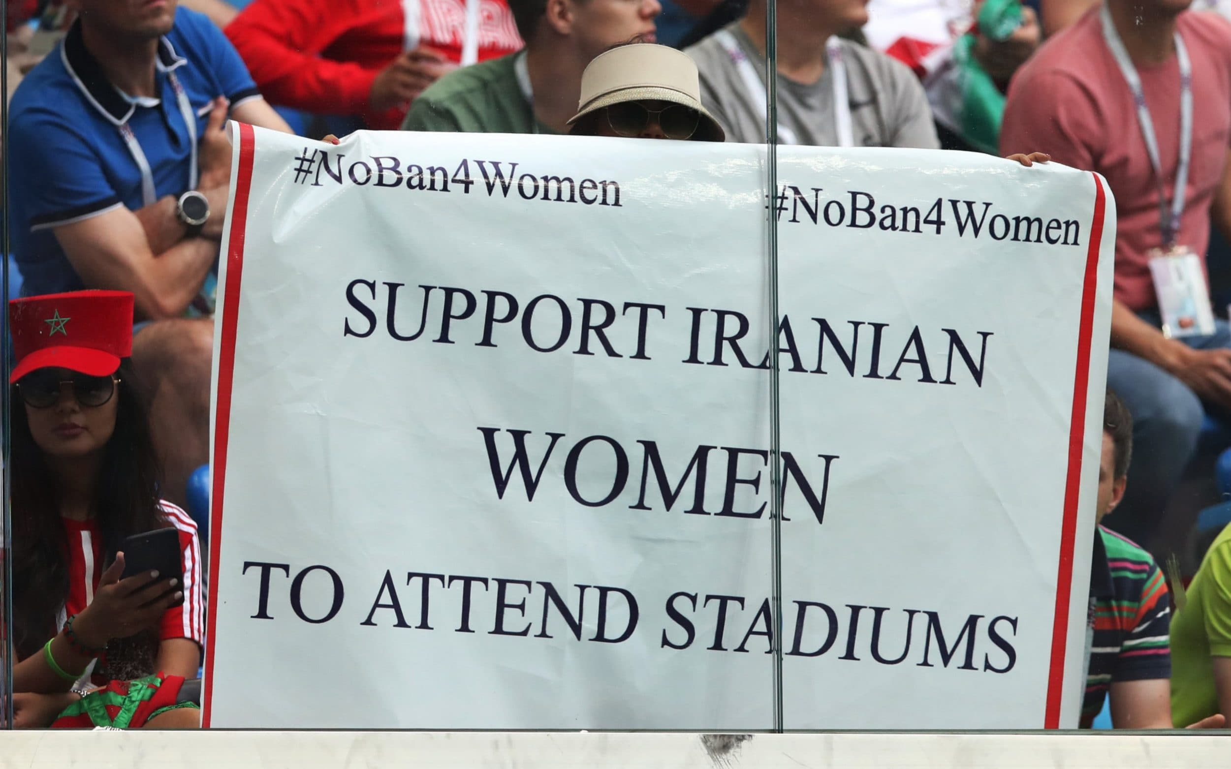 Woman sets herself on fire after being charged for illegally entering football match in Iran