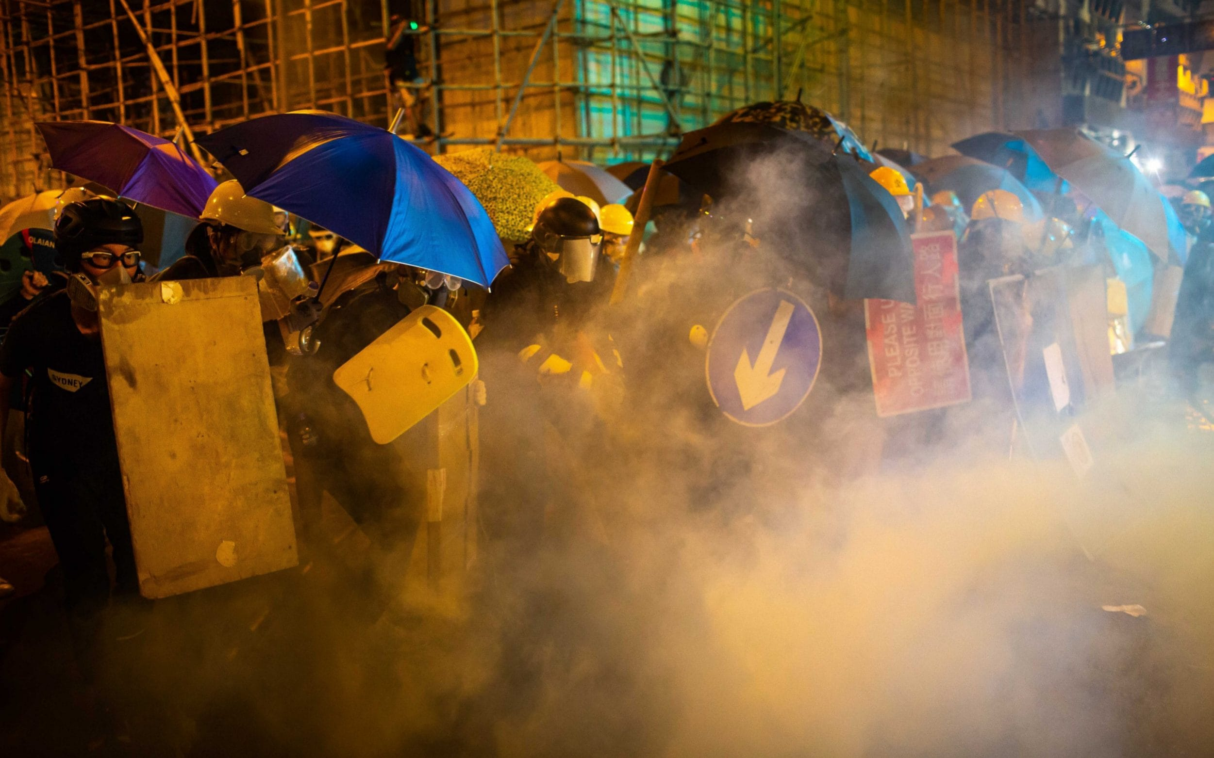 Hong Kong plunges into pandemonium for second day in a row as protests continue