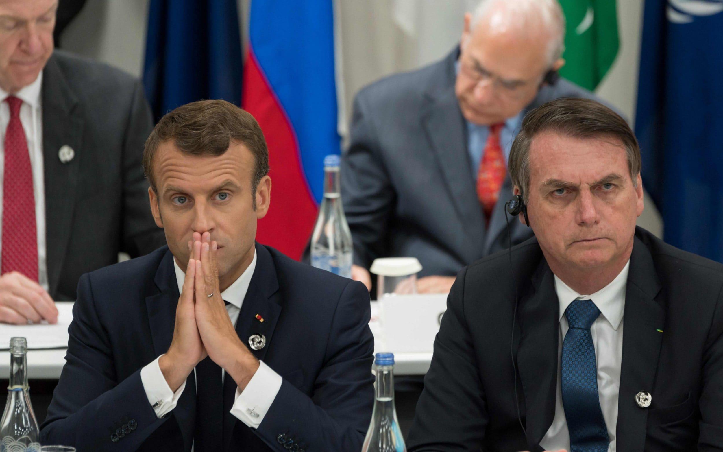 Macron attacks extraordinarily rude Bolsonaro after insults about wife Brigitte