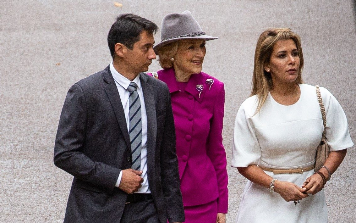 Princess Haya seen for first time since fleeing Dubai as she arrives for High Court hearing