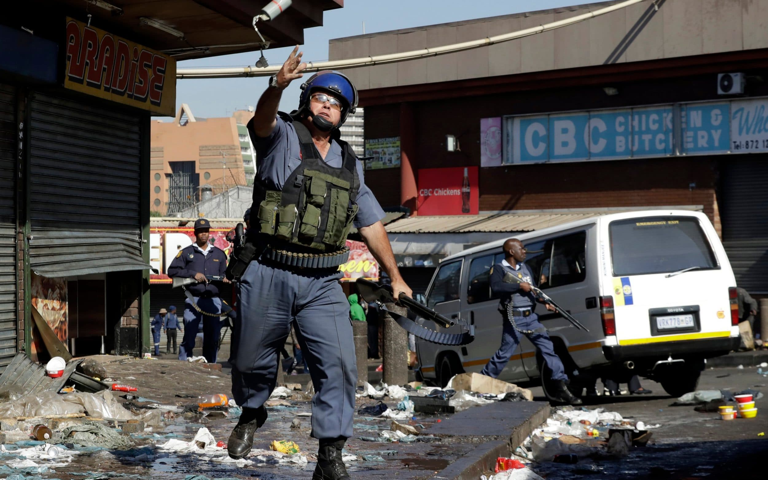 Five dead as mobs burn down shops in anti-foreigner riots in Johannesburg